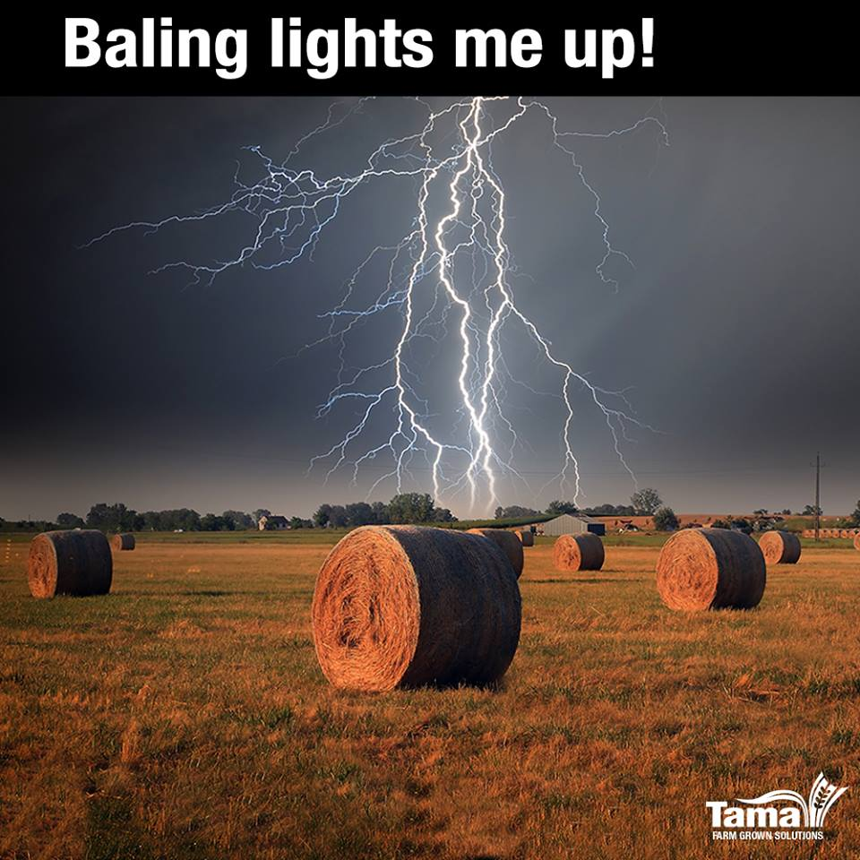 Baling lights me up!