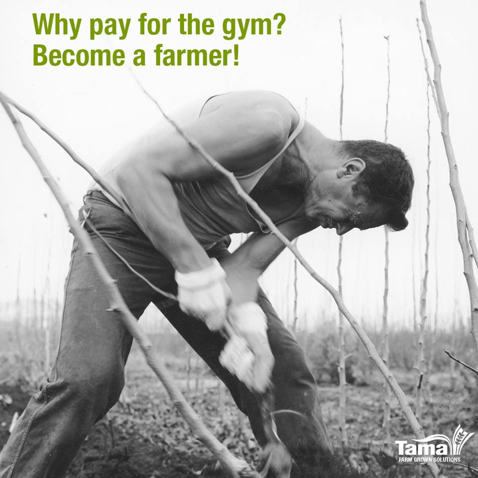 Why pay for the gym? Become a farmer!