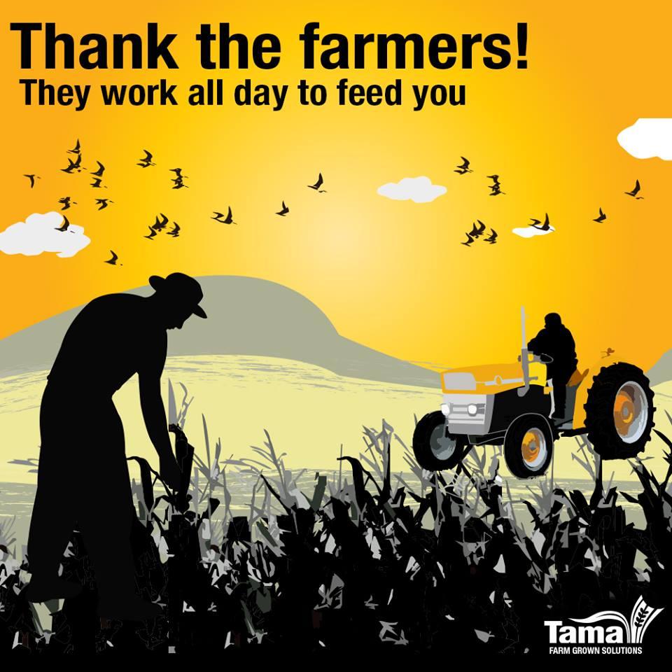 Thank the farmers