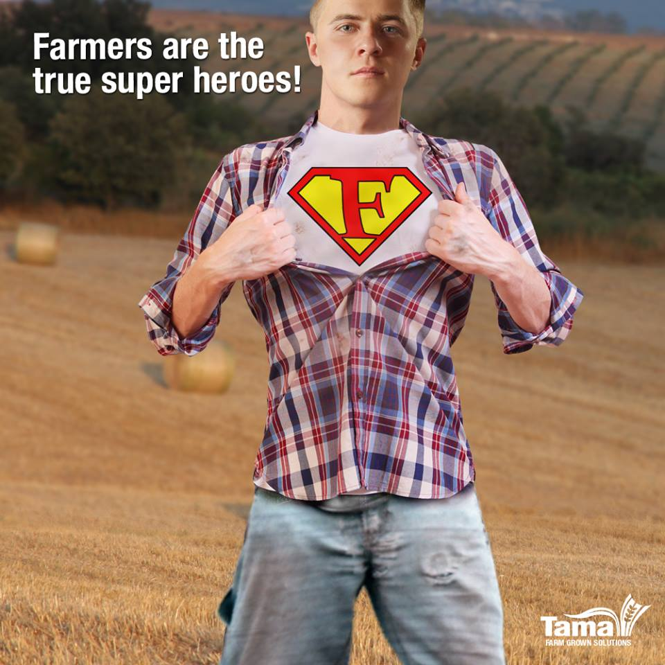 Farmers are the true super heroes!