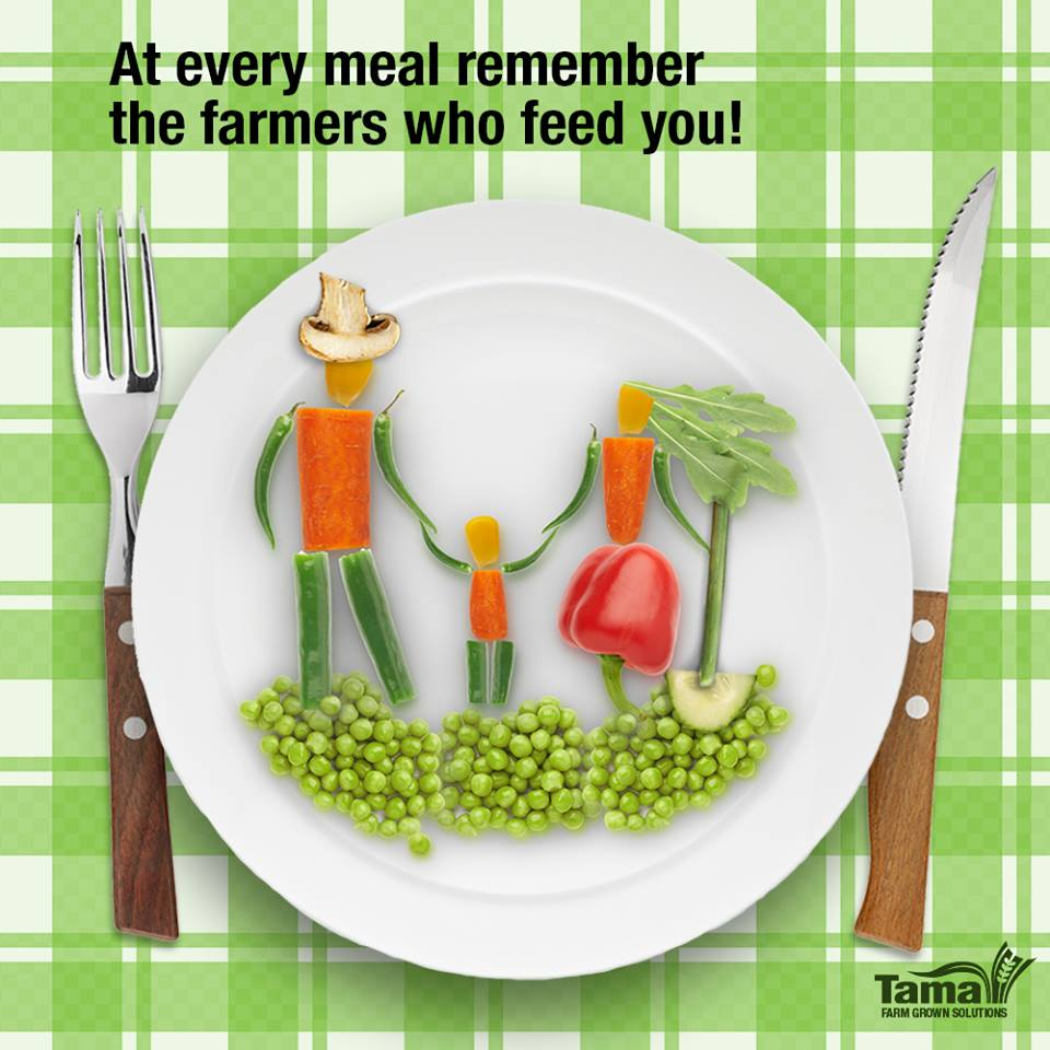 At every meal remember the farmers who feed you!