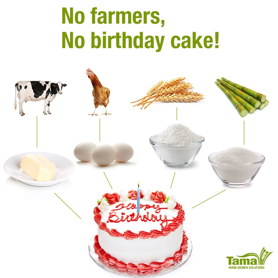 No farmers, No birthday cake!