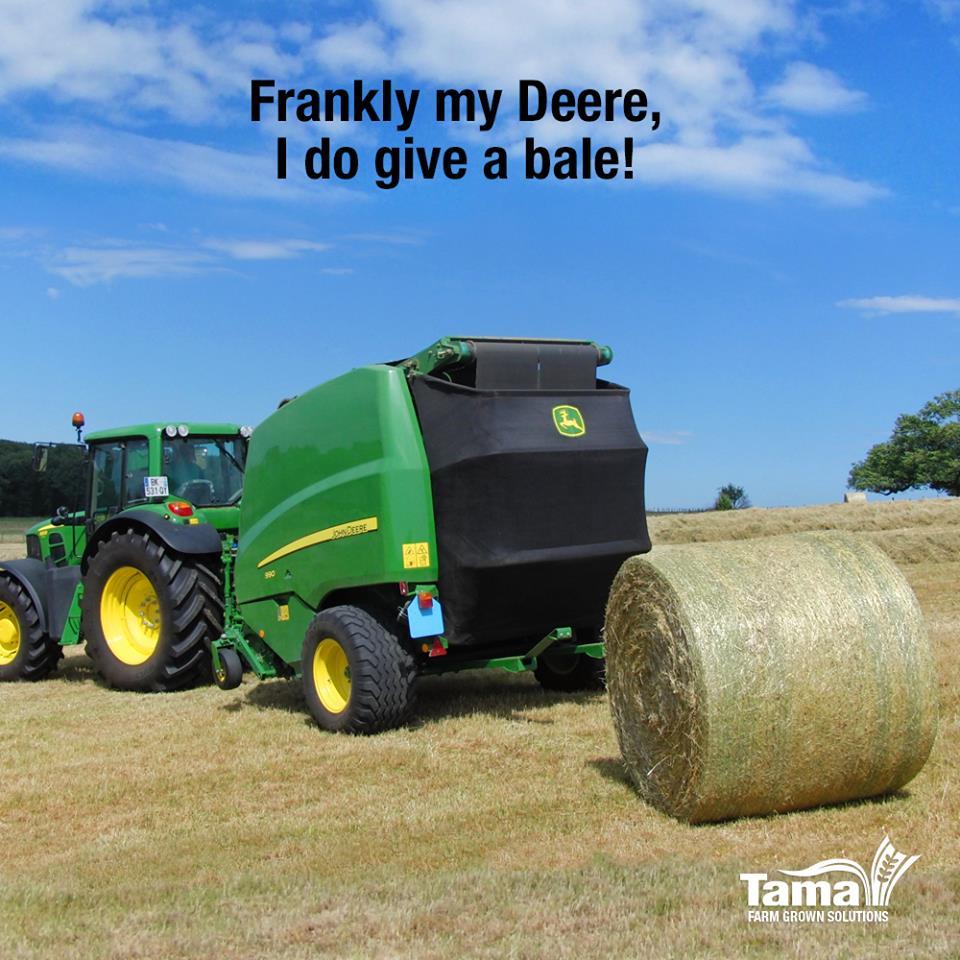 Frankly my Deere, I do Give a bale!