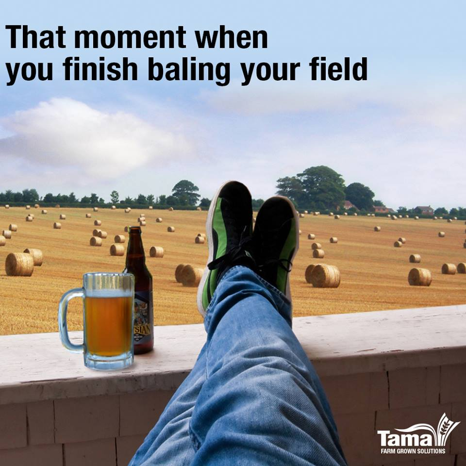 That moment when you finish baling your field