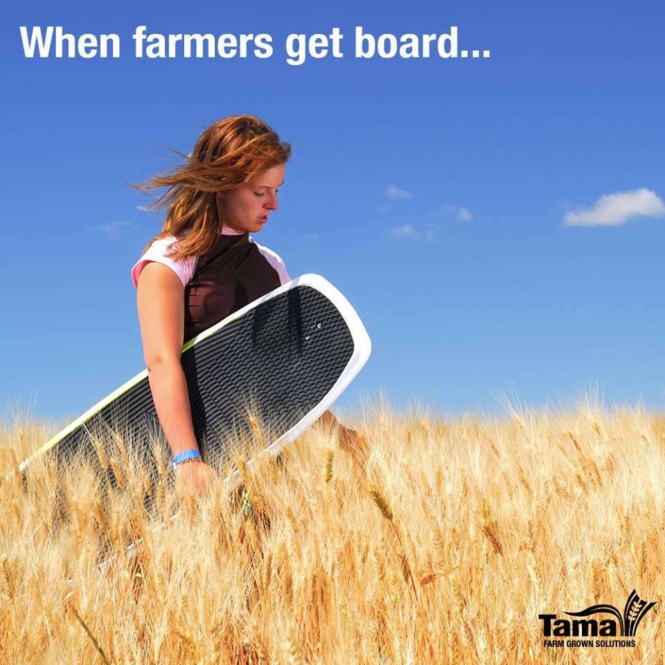 When farmers get board...