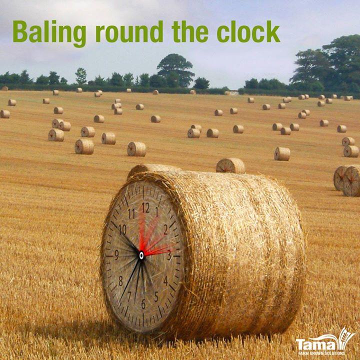 Baling round the clock