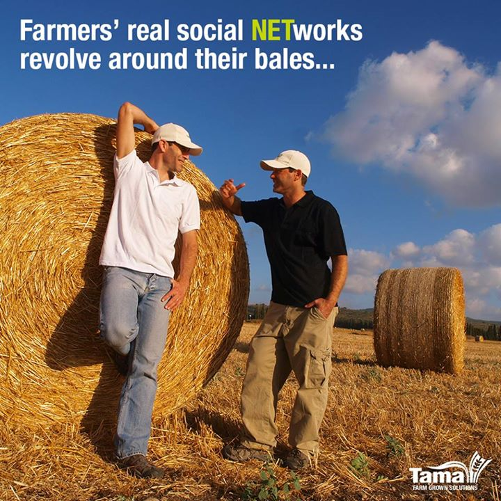 Farmers' real social NETworks revolve around their bales...