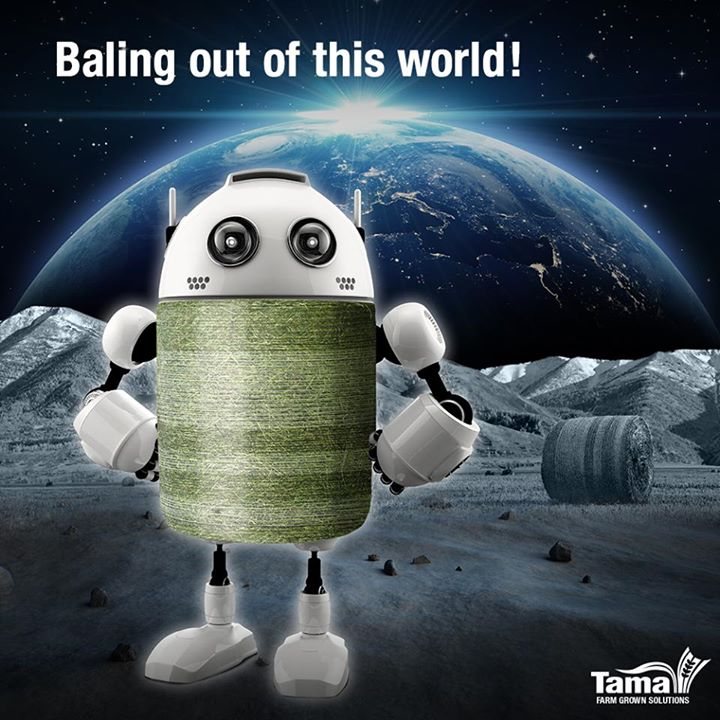 Baling out of this world!