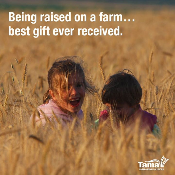 Being raised on a farm... best gift ever received