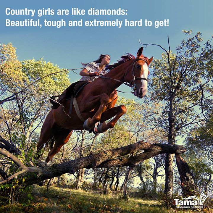 Country girls are like diamonds