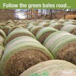 Follow the green bales road