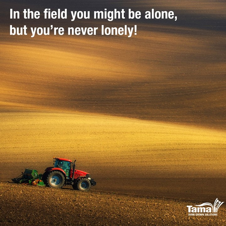 In the field you might be alone, but you're never lonely!