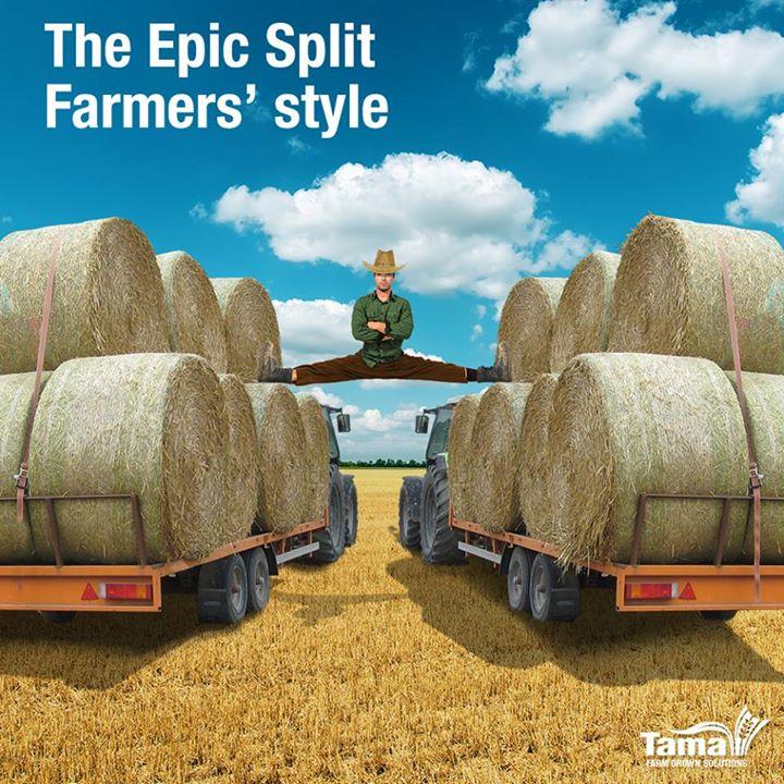 The Epic Split farmers' style