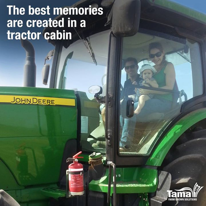 The best memories are created in a tractor cabin