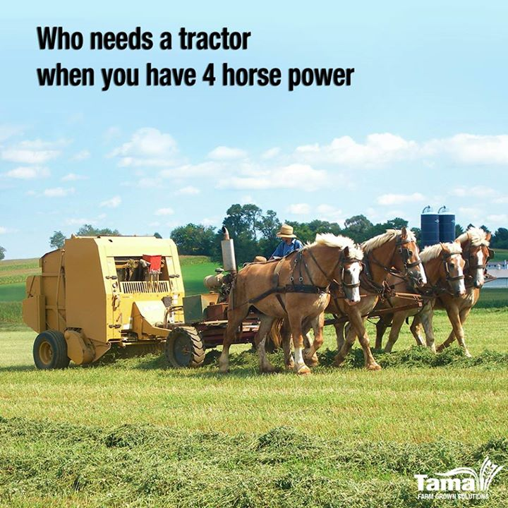 Who needs a tractor