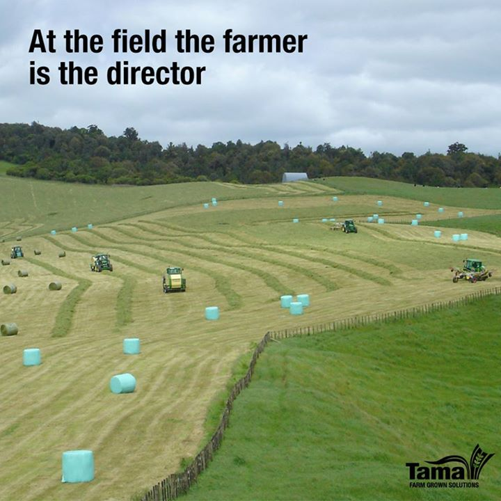 At the field the farmer is the director