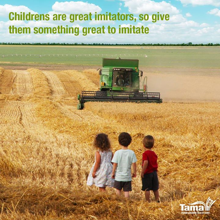 Childrens are great imitators